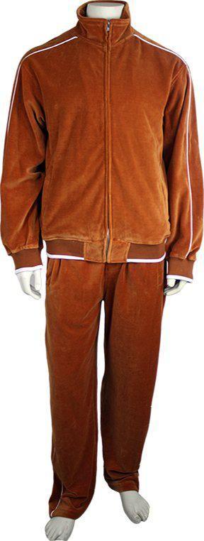 Orange Tracksuit | Mens Velour Sweatsuit | Sweatsedo