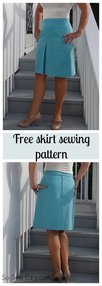 Easy to sew skirt with a little style. Has an inverted box pleat at center front so the skirt is still straight but has plenty of room to move about.