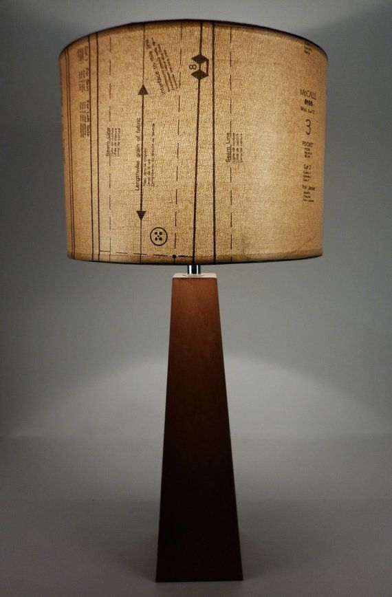 Lamp shades with Vintage Industrial Chic  Recycled  by patturn, $84.99