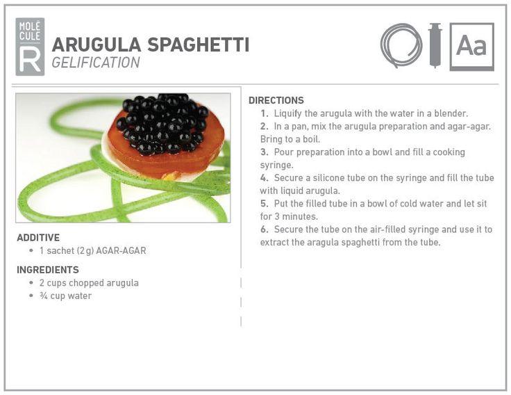 Molecular cuisine recipe: ASragula spaghetti