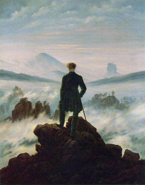 IV. LES TEMPS MODERNES  6.  XIXe siècle  LE ROMANTISME Caspar David Friedrich Voyage devant le mur de nuages (1818)