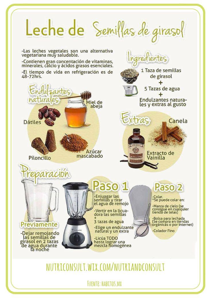 Cómo preparar leche de girasol