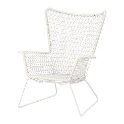 HÖGSTEN Lenestol, utendørs, hvit - - - IKEA