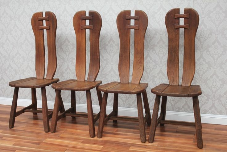 Unique Handmade Antique Solid Oak Settlers / Indoor / Outdoor / Dining Chairs