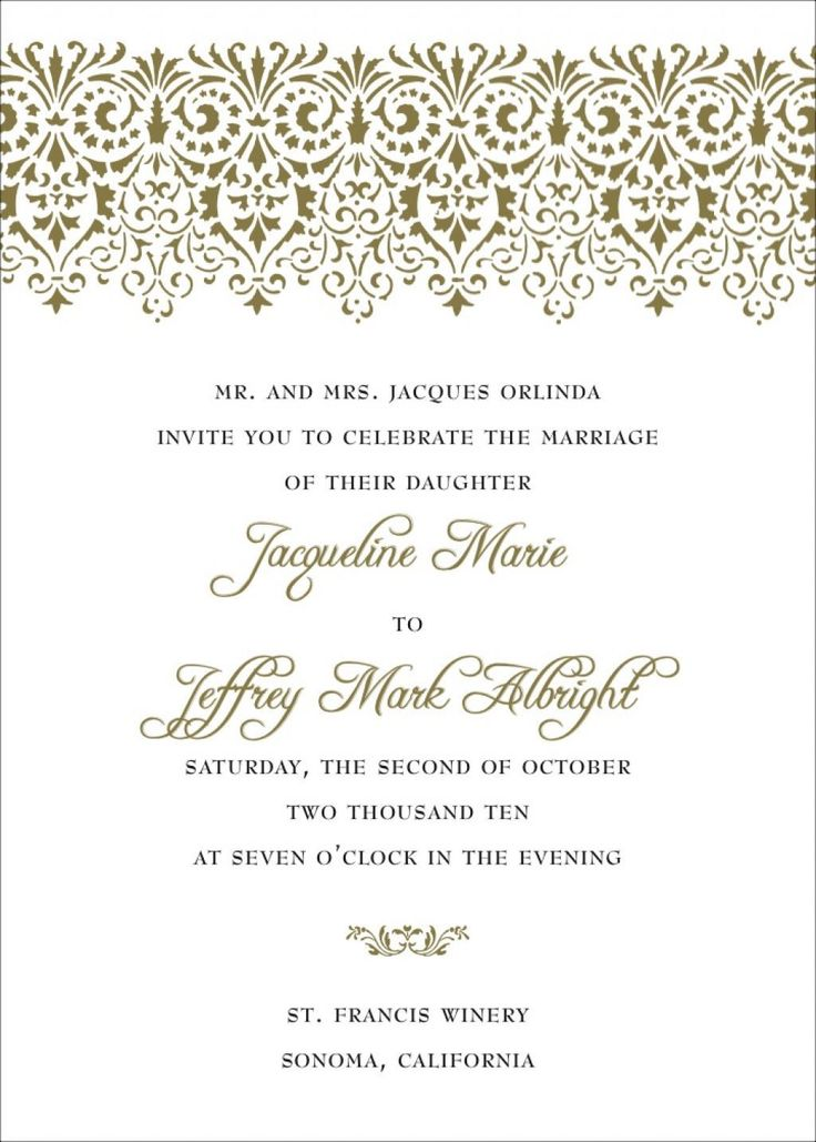 Examples Wedding Invitations Wording