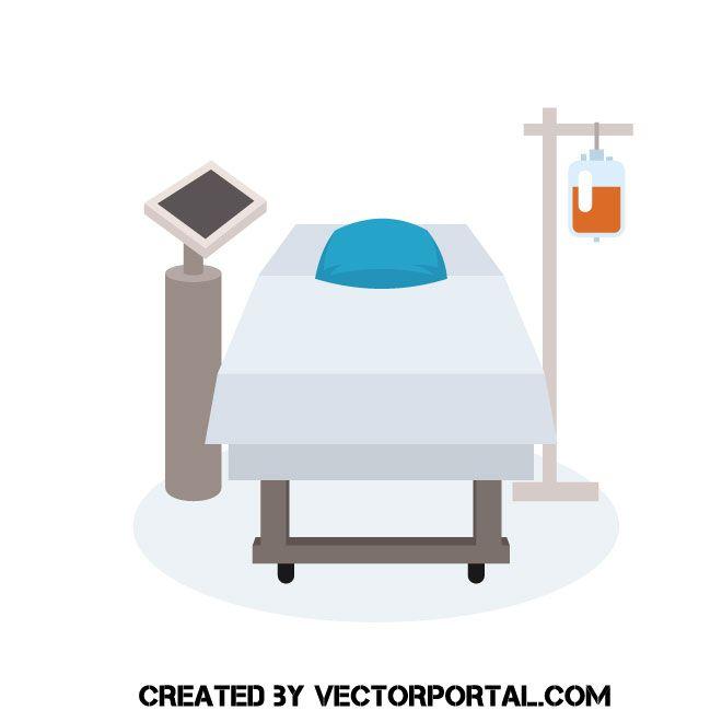 Hospital Bed Vector Clip Art Bed Vector Medical Clip Art Clip Art