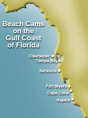 Beach Cam Map of the Gulf Coast of Florida