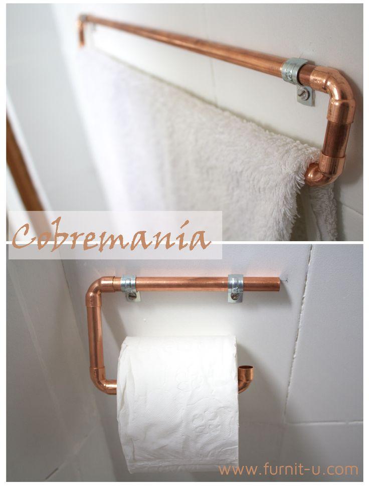 DIY: accesorios de baño en cobre