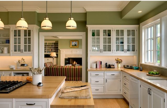 I used to have a catkin green kitchen: this reminds me of how lovely green and white is in the kitchen