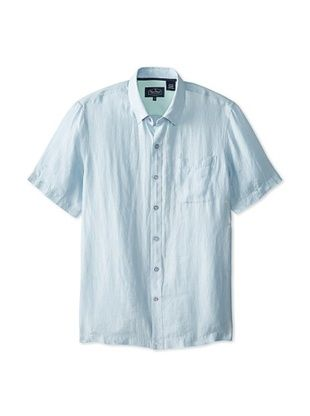 76% OFF Nat Nast Men's Tulum Short Sleeve Cross-Dyed Shirt (Blue Fox)