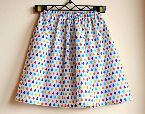 SALE, Bohemian clothing, woman skirt, raindrop skirt, hippie clothing, nature print, elastic waist skirt, summer skirt, forestsongclothes