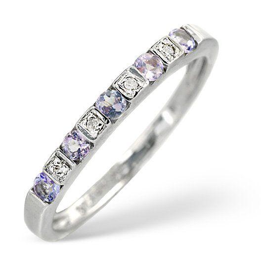 Tanzanite 0.18CT And Diamond 9K White Gold Ring The Diamond Store 201 €
