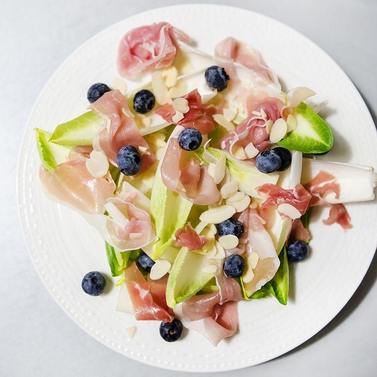 #endive #prosciutto #fresh #blueberries #almonds #foodcoaching