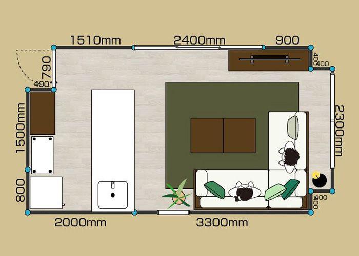 リビングダイニングルーム 1ldk 8畳 B 2d 8畳 レイアウト 狭いリビング レイアウト レイアウト