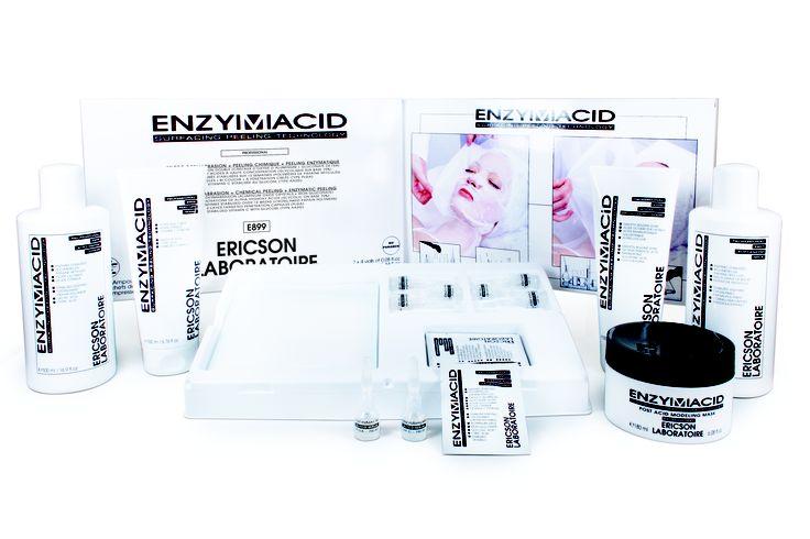 Salonproducten Enzymacid Fruitzurenpeeling, microdermabrasie en enzymatische peeling.