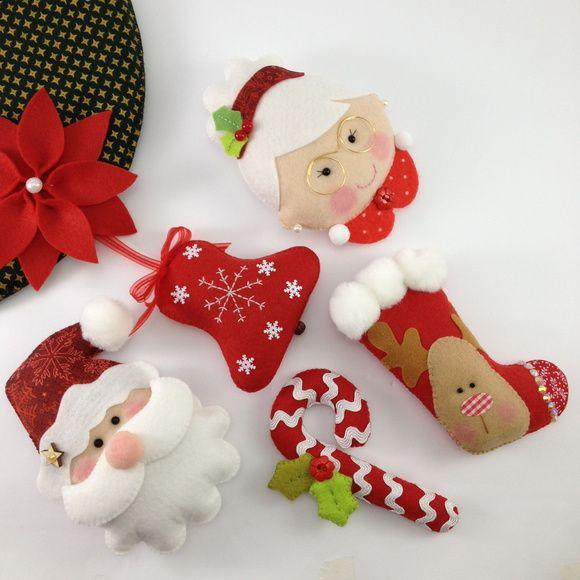 Enfeites de Natal Feltro Unidade