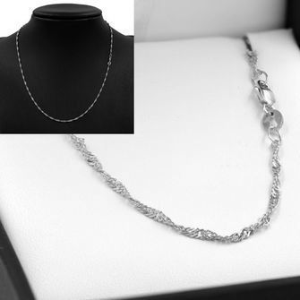 50cm Sterling Silver Singapore Rope Chain Necklace - SN-SN30