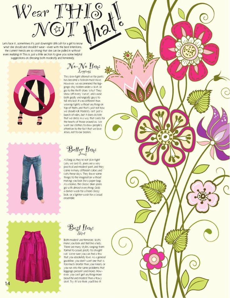 """So you know there are some styles out there right now that are cute, but you're not certain if they are appropriate. Need a little help figuring out why? """"Wear this not that!"""""""