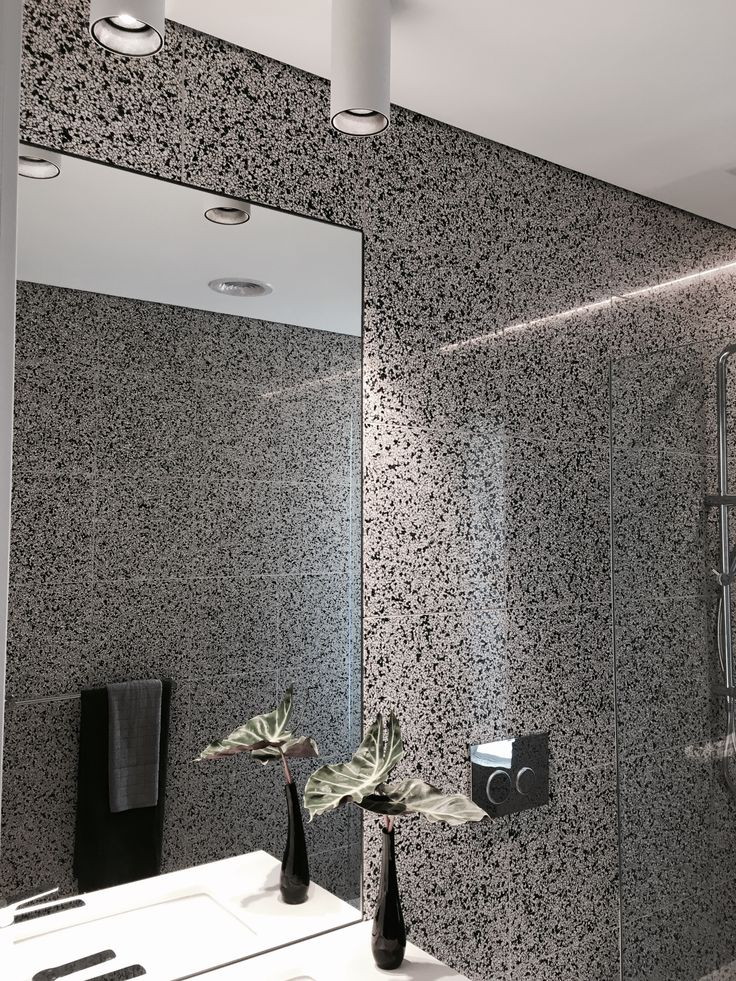 Black Tiles For Bathroom Wall