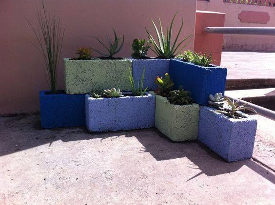 17 mejores ideas sobre bloques de cemento en pinterest - Jardineras de cemento ...