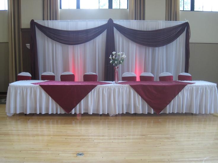 Down The Aisle Head Table Or Sweetheart Table: 60th Wedding Anniversary Ideas