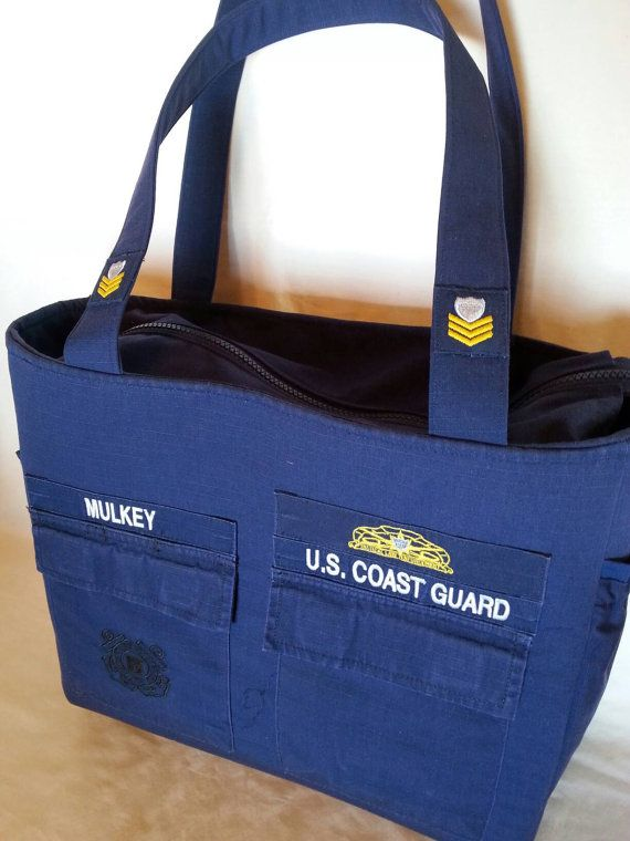 Check out this item in my Etsy shop https://www.etsy.com/listing/269217637/handmade-coast-guard-diaper-bag-made