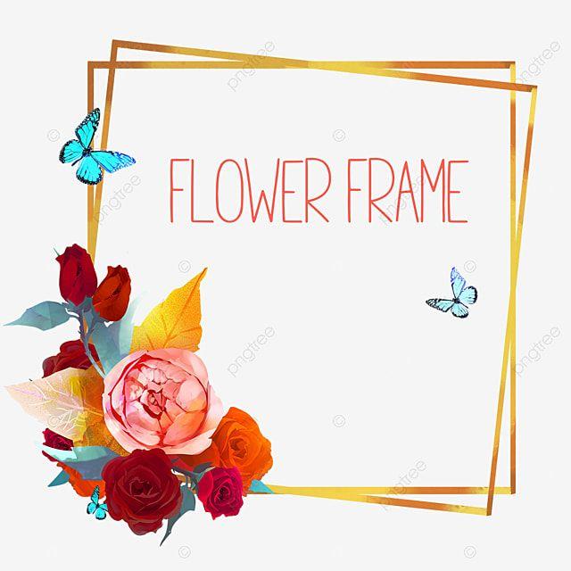 Gambar Bunga Mawar Yang Indah Dan Bingkai Daun Emas Daun Emas Bingkai Emas Bingkai Mawar Png Transparan Clipart Dan File Psd Untuk Unduh Gratis Bunga Menggambar Bunga Pernikahan Bunga