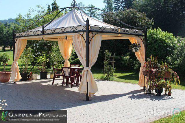 Pavillon Rechteckig Partyzelt Metallpavillon Gartenlaube Gazebo «DUBAI»