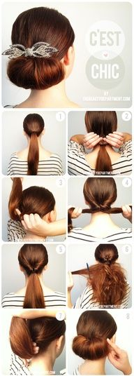 Updo I don't know if I will be able to actually pull it off, smoothing down the tease enough to look good has forever been my issue...