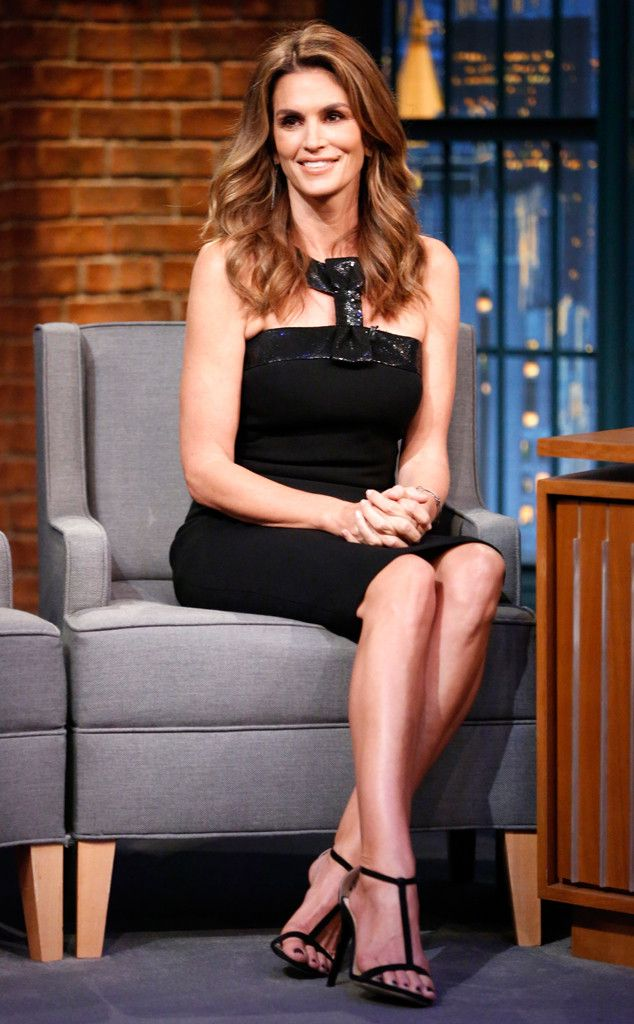 Cindy Crawford from The Big Picture: Today's Hot Pics  The legendary model stops by the set oftheLate NightWith Seth Meyers.