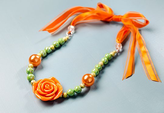 DIY Kit - Autumn Rose Necklace