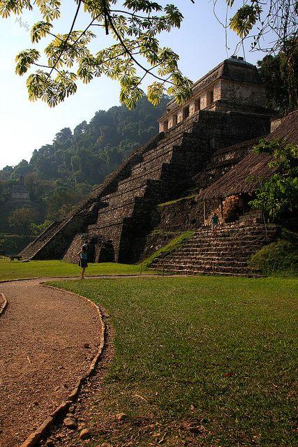 Tempel der Inschriften, Mayastätte von Palenque, Mexiko