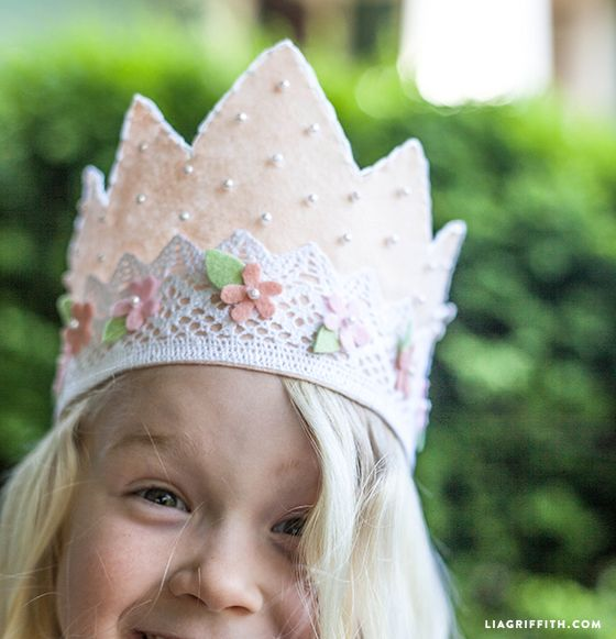 DIY Felt and Lace Princess Crown | Lia Griffith