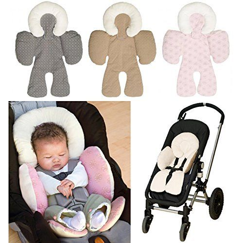 Gray Soft Infant Baby Headrest Neck Pillow Baby Car Seat / Stroller Body Support Cushions 0-12 months
