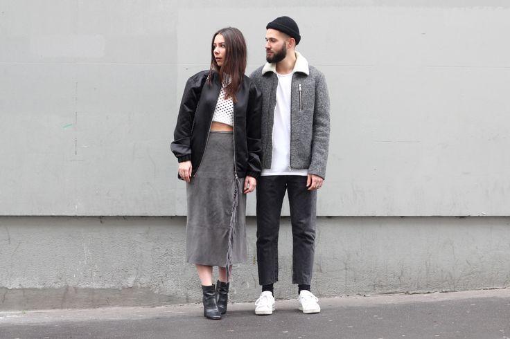 J'aime tout chez toi - French fashion couple - Black & grey minimal matchng outfits