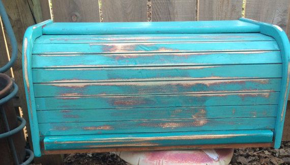 small BREAD BOX BREAD Bin Wooden Bread Box Shabby by sunnydayz5