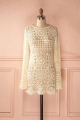 Padmini - Cream macrame dress