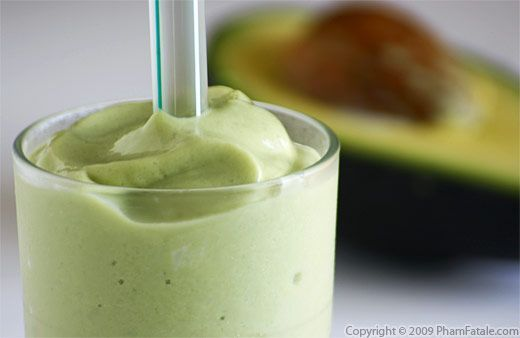 Vietnamese Avacado Smoothie - I didn't have the stomach to try these in Vietnam but everyone else there said they were great!