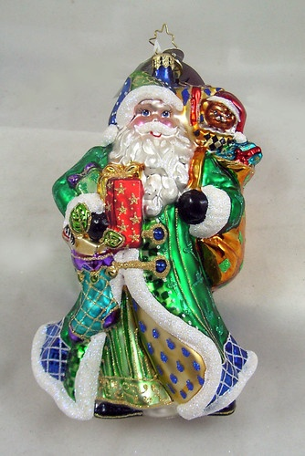 Radko Belle Court Blue Santa Glass Ornament Made in Poland New Teddy Bear | eBay