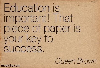 Education is knowledge not obtaining degree.