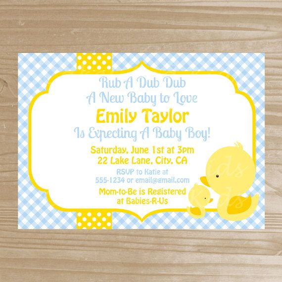 invitation ideas duck baby showers rubber duck boy shower ducks shower