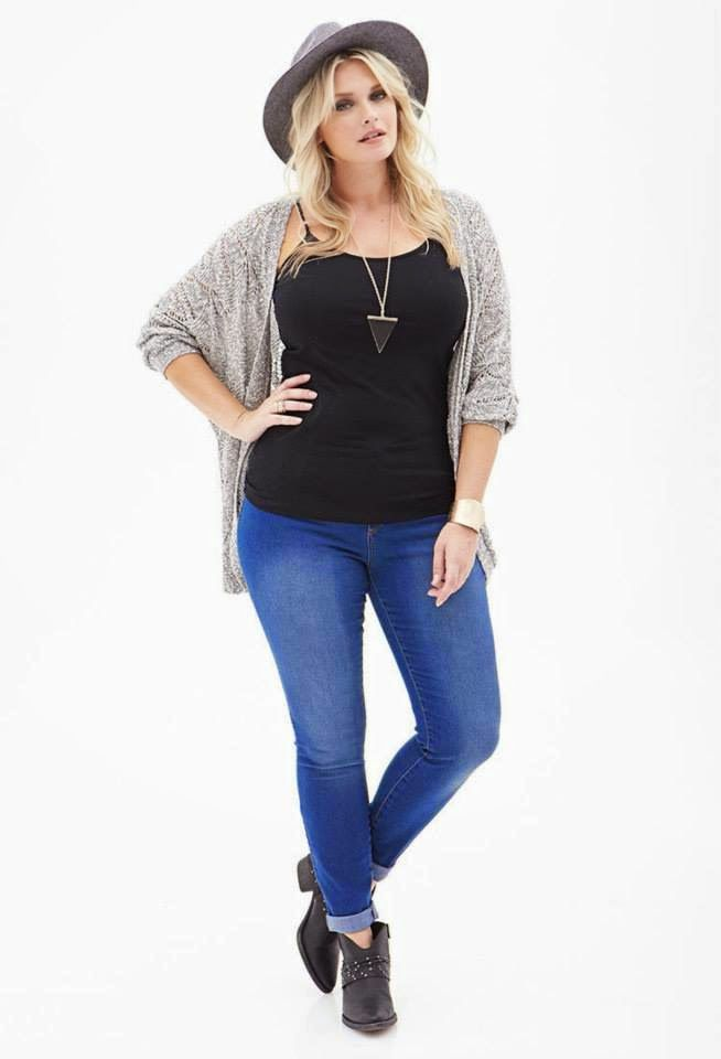 Latest Plus Size Casual And Formal Wear For Fall And Winter 2014 By Forever 21