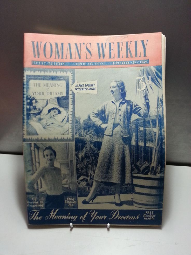 Vintage womans weekly, with adverts and pull out 'the meaning of dreams' , september 25th 1954 edition, by LaMaidenenNoire on Etsy