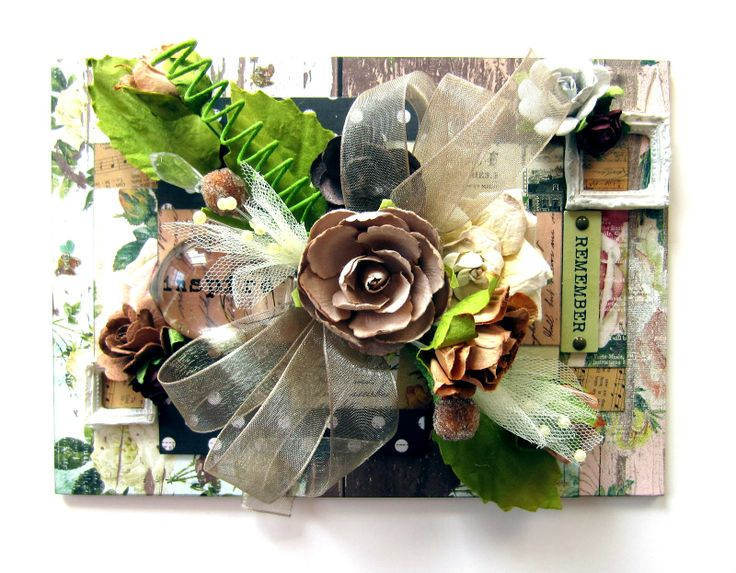 CT work for Flying Unicorn using the May Kit of the Month! A 5x7 canvas I created using the lovely Record It, Pretty Things collection by My Mind's Eye! #papercrafting #scrapbooking #mymindseye #recordit #prettythings #primamarketing #manorhousecreations #melissafrances #resins #flowers #canvas #flyingunicornllc #scrapbookcom