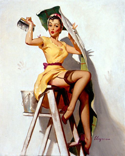 Help Wanted! (1952) by Gil Elvgren, via Artsy
