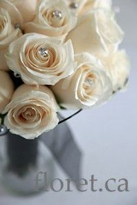 Classic Ivory Rose Bouquet With A Twist