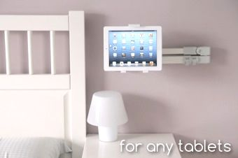 Accessories, The Splendid IPad Holder Air Holder White Ipad Stand For Bed For Any Tables Of Your House Easy And Flexible For You: Ipad Stand...