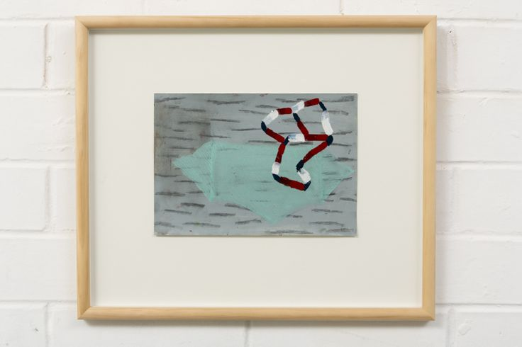 Adrienne Vaughan, Green Island, 2014, Oil on paper, 315 x 370mm (framed dimensions)
