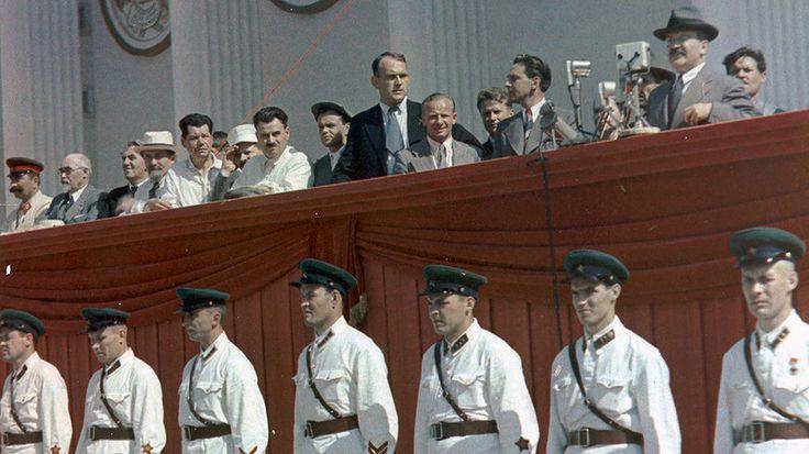 Торжественное открытие Всероссийской сельскохозяйственной выставки. 1939. На…