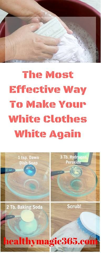 The Most Effective Way To Make Your White Clothes White Again